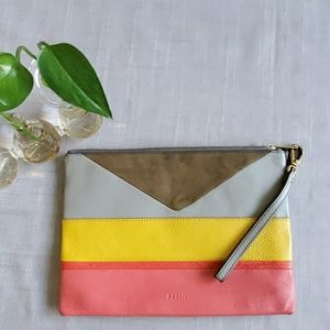 Fossil large leather clutch/wristlet